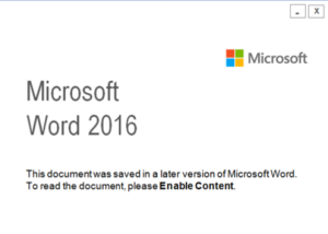 Malicious Word Document Content